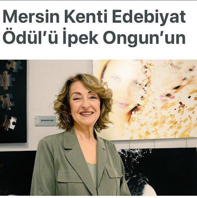 Mersin Kenti Edebiyat Ödülü İpek Ongun'un