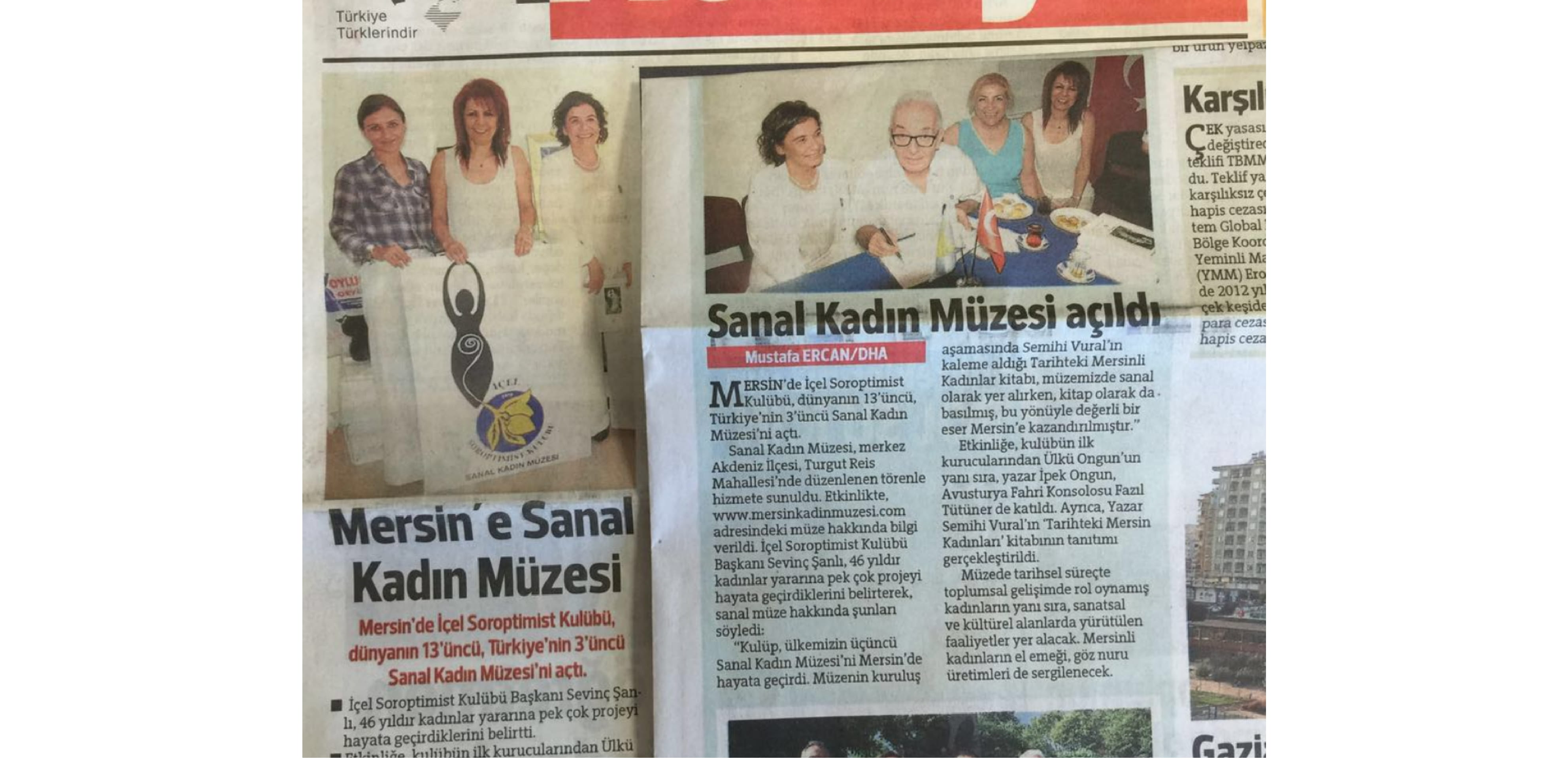Our Museum on Hurriyet Newspaper