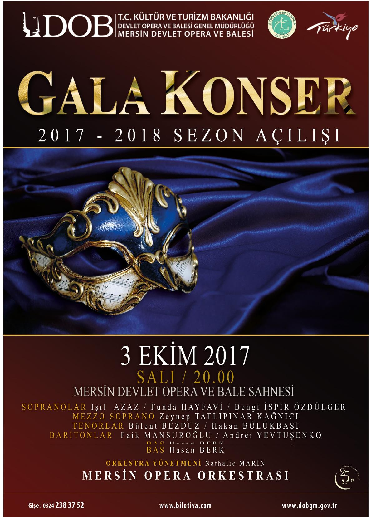 Mersin State Opera and Ballet – Premiere Concert of the 2017-2018 Season